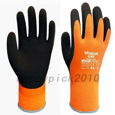Wonder Grip Gloves Wg-338 Thermo Plus Latex Waterproof Warm Thermal Lined Work