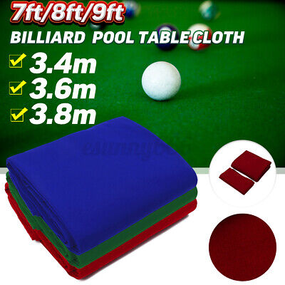 Worsted Wool+Nylon Billiard Pool Table Cloth Cover Felt For 7/8/9FT Table 3 Size