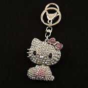 Hello Kitty Crystal Cell Phone Charm