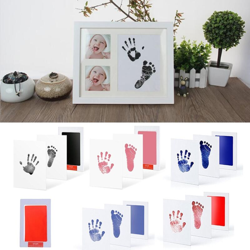 Baby Safe Inkless Touch Footprint Handprint Ink Pad Mess Free Commemorate