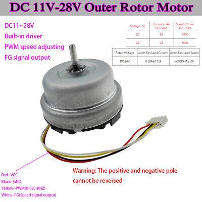 11v-28v Dc Outer Rotor Motor Pwm 12v 24v Dc Brushless Motor For Ventilator Fan