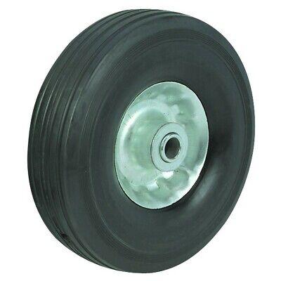 8 Inch Heavy Duty Solid Rubber Tire With Steel Hub Wheel Barrel 58 Axle Hole