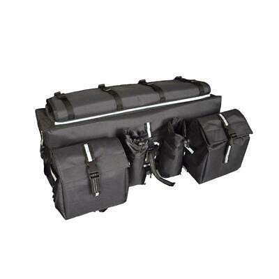 ATV Cargo Bag Rear Rack Bag 600D Waterproof Storage Padded Reflective Stripe -