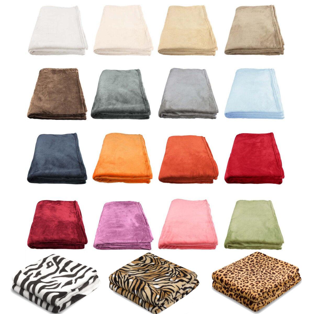 XL SUPER SOFT Kuscheldecke Sofadecke Microfaser Decke Fleece Wohndecke 150 x 200