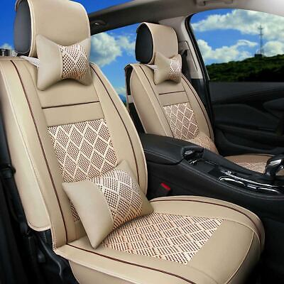 Seat Summer Cover (Summer Car Seat Cover Full Set Cushion Beads/Mesh For Sedan SUV Ultra Cool Comfy )