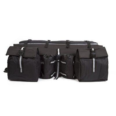 ATV Cargo Bag Rear Rack Gear Bag Black 600D Waterproof -