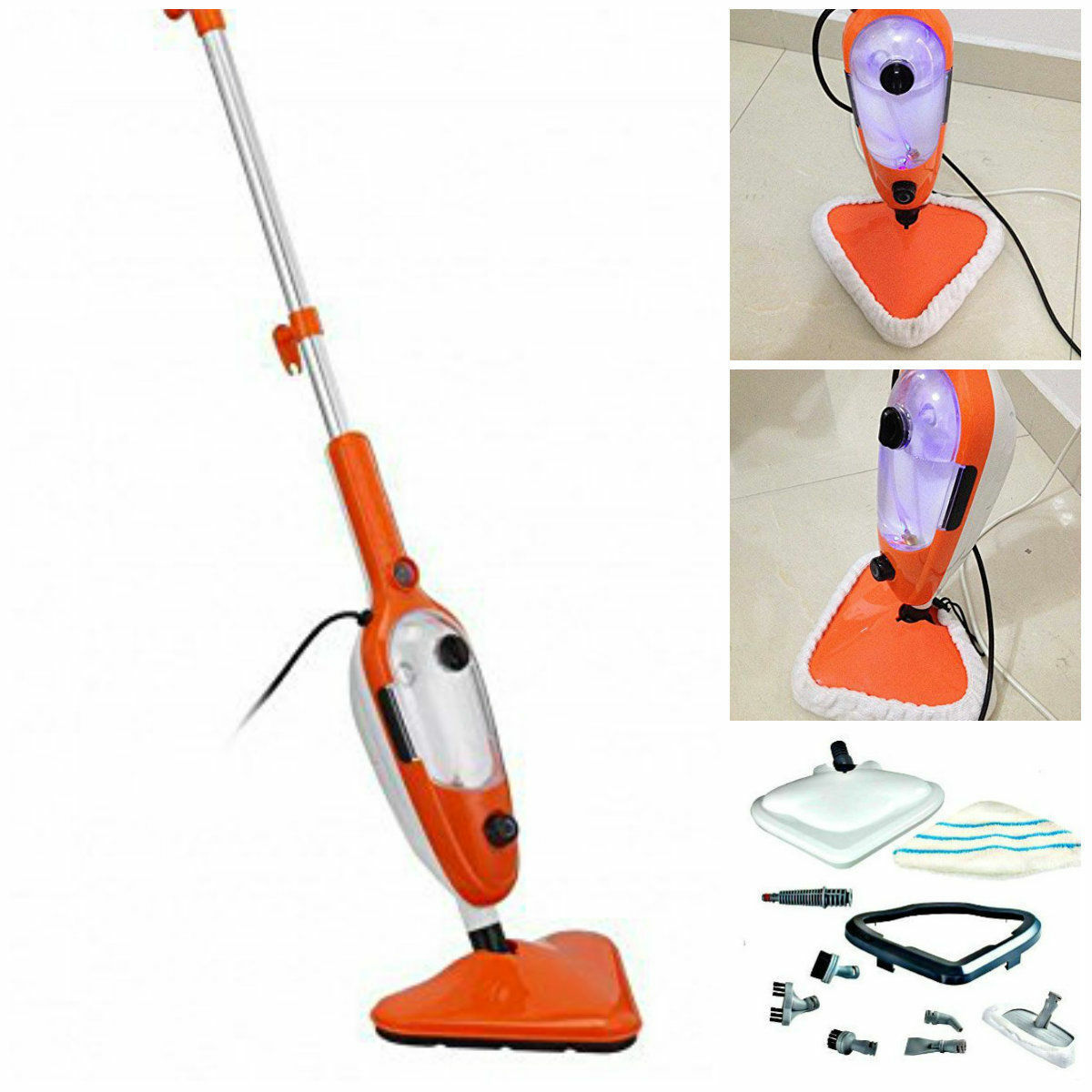 15 in 1 1500w steam mop cleaner steamer hardwood floor. Black Bedroom Furniture Sets. Home Design Ideas