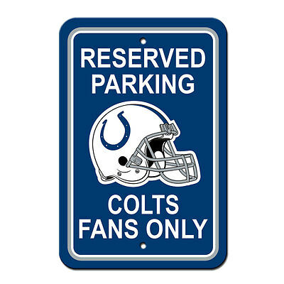 NFL Indianapolis Colts Office Room Home Decor Parking Sign 12