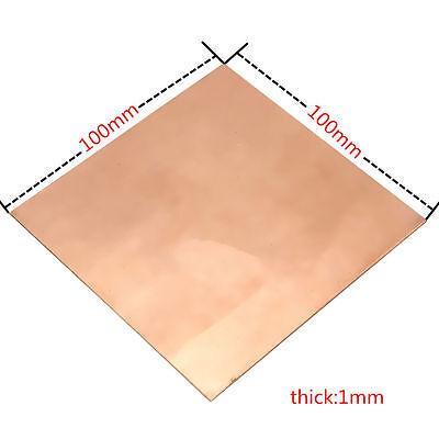 1pc 99.9 Pure Copper Cu Metal Sheet Plate 1mm100mm100mm