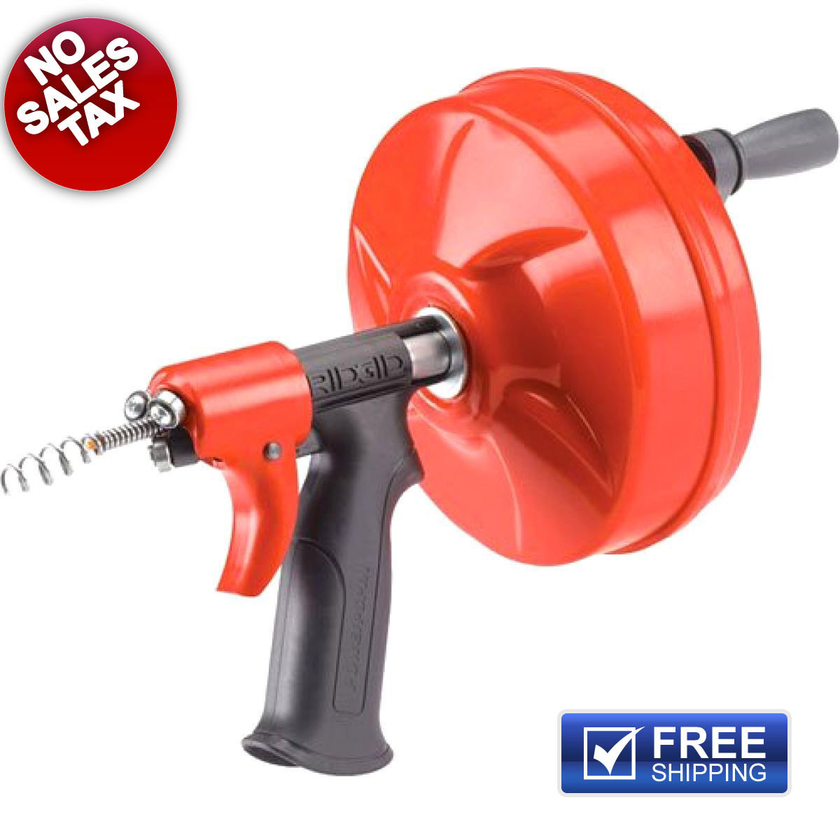 Ridgid Plumbing Power Spin Drain Cleaner Snake Auger Cable