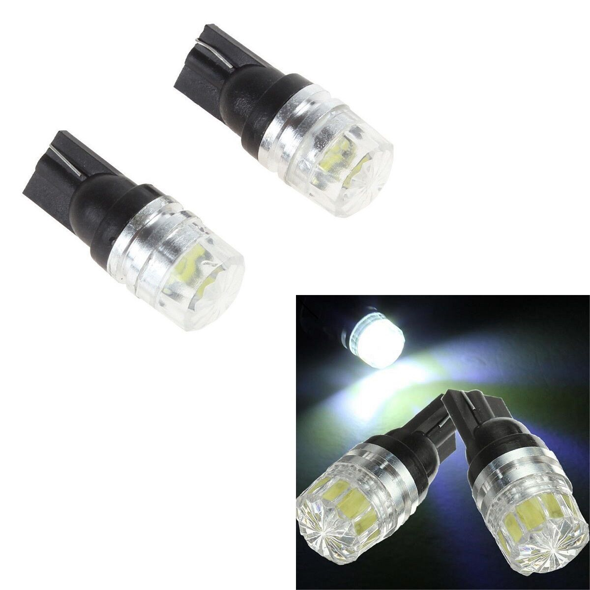 Car Parts - Error Free T10 W5W 501 LED Bulbs SMD Car Side Interior Lights Wedge Lamp Canbus