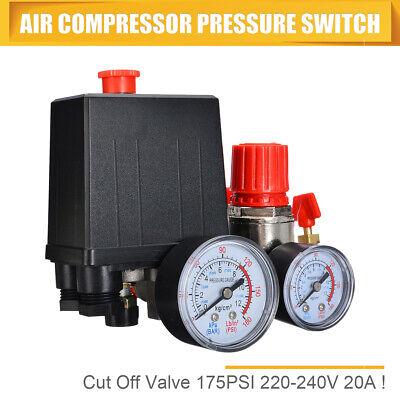 Air Compressor Pressure Switch Control Valve Manifold Wgauges Relief Regulator