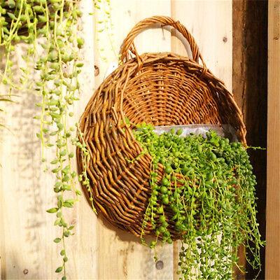 (Flower Planter Wall Hanging Basket Ornamental Vases Garden Outdoor Indoor Holder)