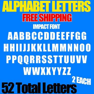 Impact Furniture - Alphabet Letters Decals IMPACT 1/2