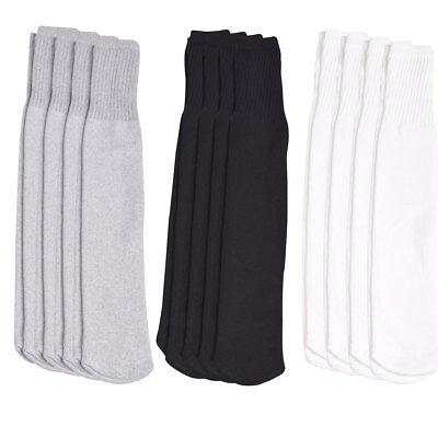4 Pairs Athletic Thick socks Calf / Knee High Men's Tube Socks White Black Gray