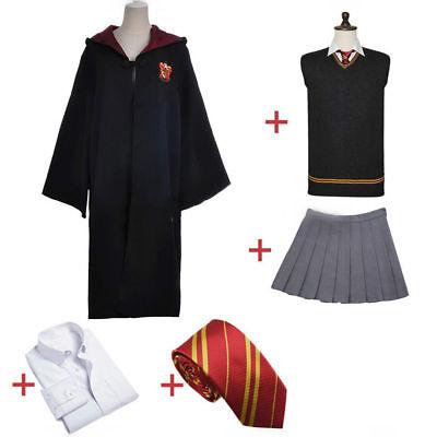Gryffindor Uniform Hermione Granger Cosplay Costume Halloween Party Full set - Costume Hermione Granger