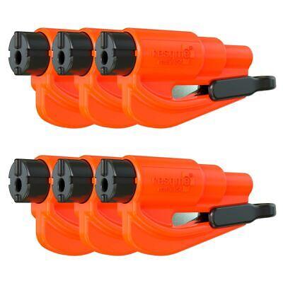 resqme® Car Escape Tool - Orange, 6 pack, Seatbelt Cutter / Window Breaker