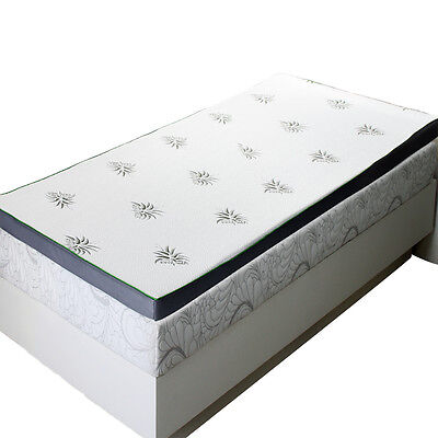 Abripedic 2.5 Inches Cool Best Gel Infused Memory Foam Mattress Topper Bed