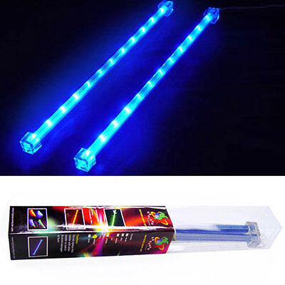 "2x Blue 12"" LED's strip inches long Tubes Glow Accent for PC Computer case"