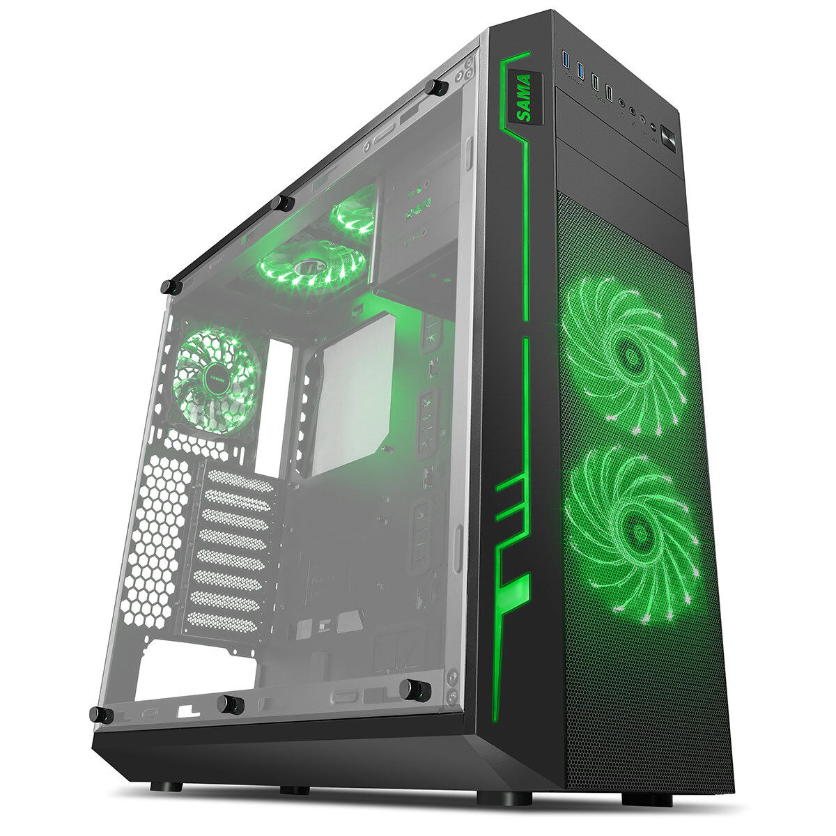 Computer Games - Mega Fast AMD Quad Core 4.2 Home Gaming PC Computer HD 8GB 1TB HD R7 RGB ARK