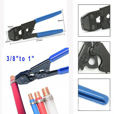 Pex Clamp Tool Cinch Crimping Tool With Stainless Steel Clamps Rings Universal