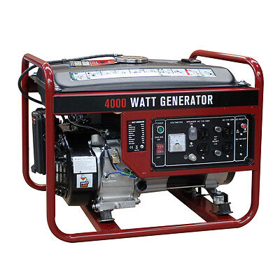 4000W Gasoline Generator 4 Rap 208cc Air Cooled Gas Powered Portable EPA New