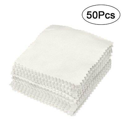 50Pcs Grey Polishing Cloth Cleaner Jewellery Cleaning Cloth Anti-Tarnish Tool