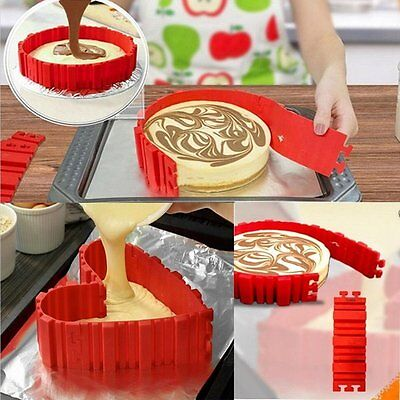 4Pcs Silicone Cake Mold Bake Snake Nonstick Create Diy Shape Baking Mould Gift