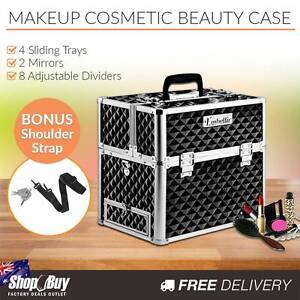 Free Delivery: Portable Professional Makeup Beauty Case Cosmetic Homebush Strathfield Area Preview