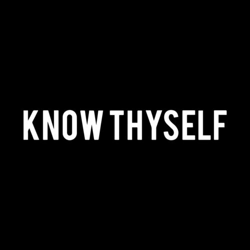 Know Thyself Masonic Vinyl Decal - White 6 Inch