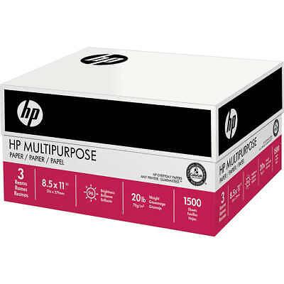 Hp Multi Purpose Letter Paper Bulk Print Fax Copy Paper 20lb 96-bright 1500ct