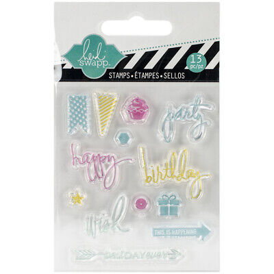 - Heidi Swapp Hello Today Collection Memory Planner Clear Acrylic Stamps