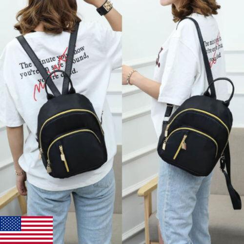 Fashion Women Girls Nylon Backpack Teenage Mini Shoulder Bag