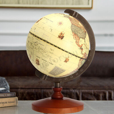 5.5'' Vintage Desk Table Rotating Earth World Map Globe Geography Decor Gift |