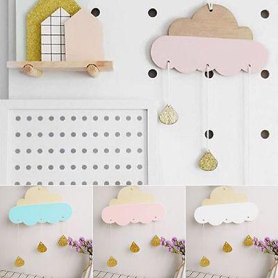 Cloud Raindrop Wall Hanging Stickers Art Kids Baby Room Nursery Decor Removable