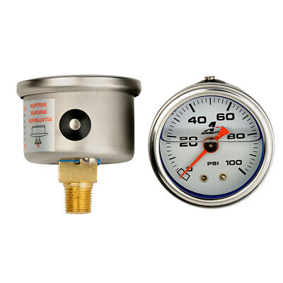Aeromotive 15633 5-Inch Diameter 0 to 100 PSI Automobile Fuel Pressure Gauge
