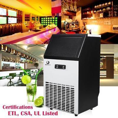 110lbs Built-in Commercial Ice Maker Stainless Steel Restaurant Ice Cube Machine