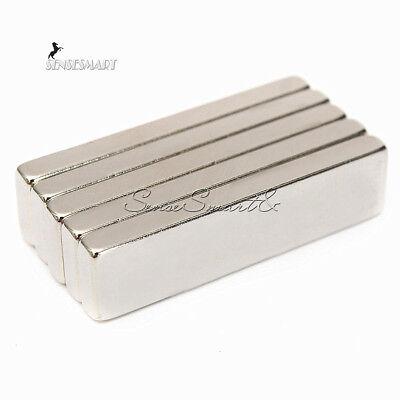 N52 40x10x4mm Big Strong Block Bar Fridge Magnets Rare Earth Neodymium Se
