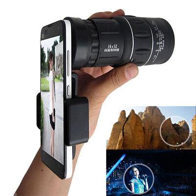 16X52 Outdoor Single HD Monocular Phone Camera Lens Telescope Day & Night Vision