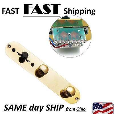 Gold Volume Loaded Pre-wired Control Plate Switch For Fender Telecaster Guitar