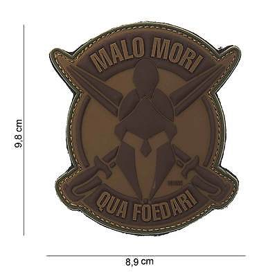 NEW 3D PVC 101 Inc Malo Mori Spartan Military Army Tactical Morale Patch Brown
