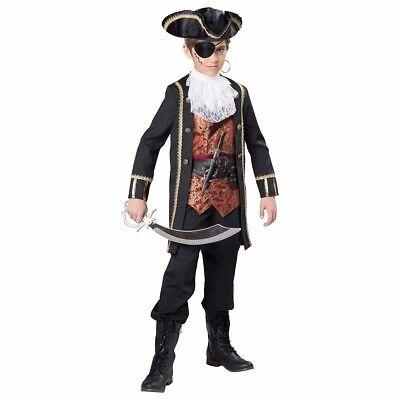 Captain Scurvy Pirate Costume Child Boys - Small Size 6