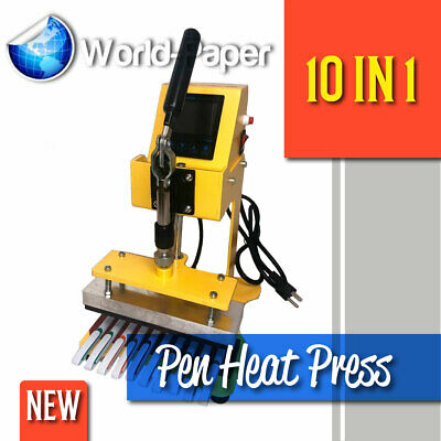 Pens Digital Logo Pen Heat Press Heat Transfer Printing Machine 110v 10 In 1