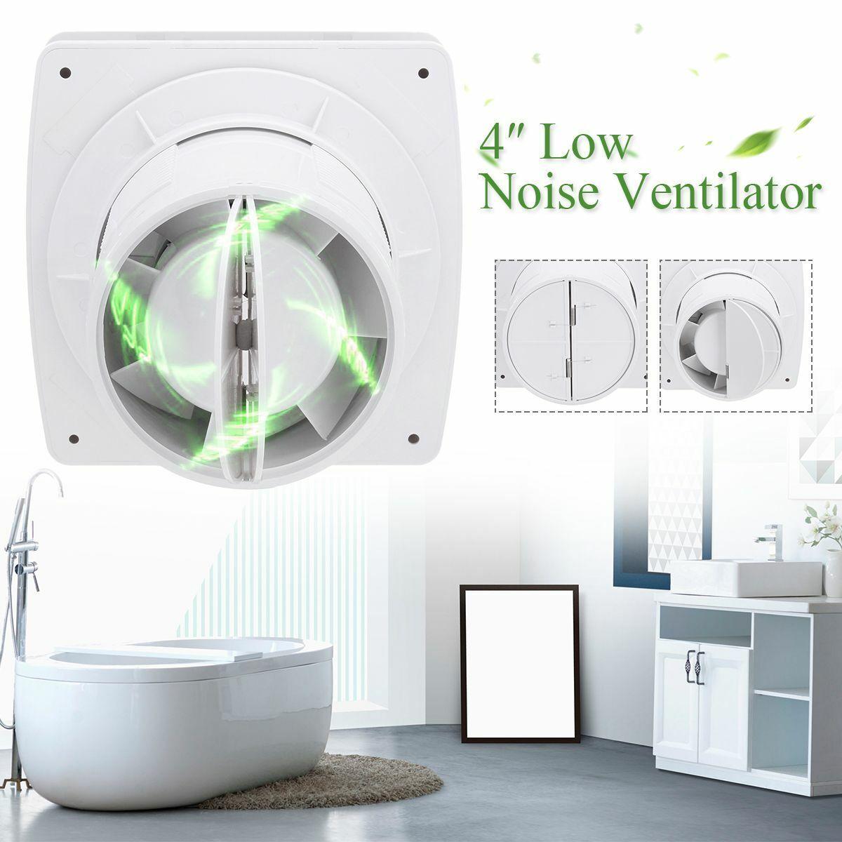 Home Bathroom Kitchen Toilet Low Noise 220V Ventilator Wall