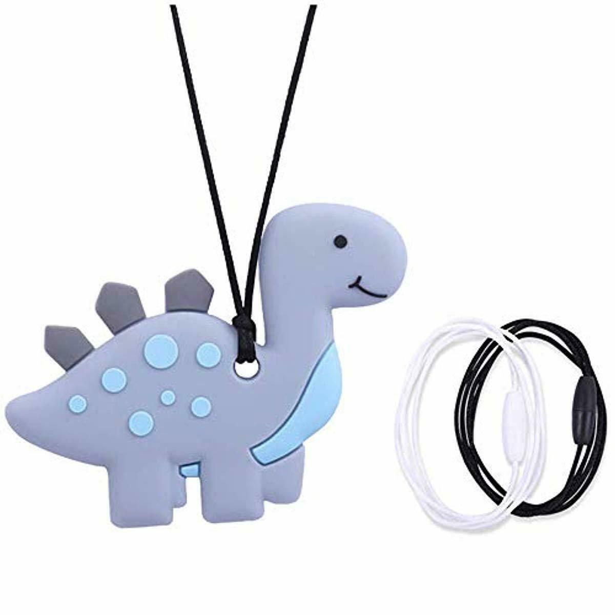 Sensory Chew Necklace for Boys and Girls,Food Grade Silicone