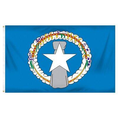 3x5 Northern Mariana Islands Nylon / Poly Blend Flag 3'x5' Marianas