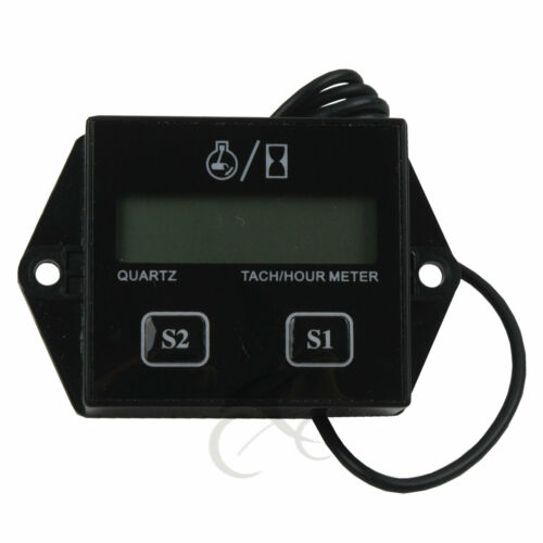 New Digital Tach Hour Meter Tachometer Gauge For 2 Stroke /& 4 stroke Gas Engines