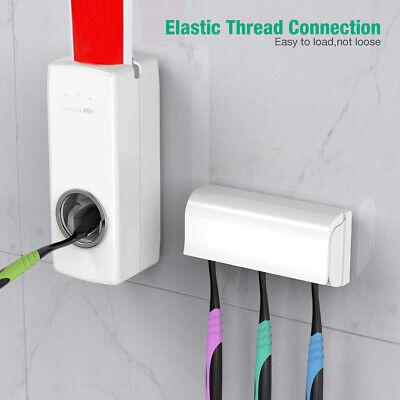 Tandpasta Dispenser + 5 elektriske tandbørste børstehoveder Holderrør Klemmesæt