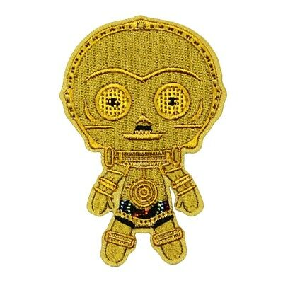 Star Wars C-3PO Gold Droid Patch Robot Emoji Chibi Embroidered Iron On Applique  for sale  High Ridge