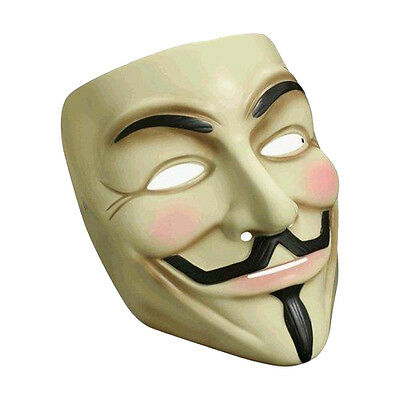 V For Vendetta Costume Mask Guy Fawkes Official Licensed Anonymous Rubies 4418 - Guy Fawkes Costume
